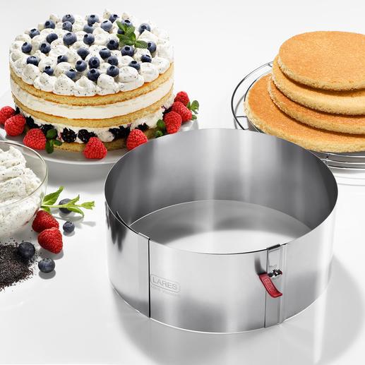 Cercle à pâtisserie variable avec système de verrouillage Le cercle à pâtisserie amélioré. Qualité haut de gamme, fabrication allemande.