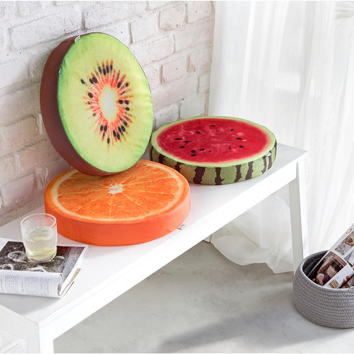Coussins fruits, lot de 3 Plus confortables et plus esthétiques qu'une simple galette de chaise.