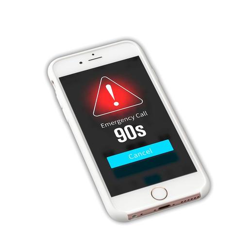 et envoie après 90 secondes un signal SOS avec système de localisation GPS.