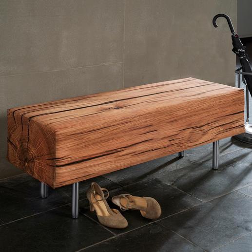 Banc aspect bois Parfaite imitation de la nature. Pour l'intérieur et l'extérieur.