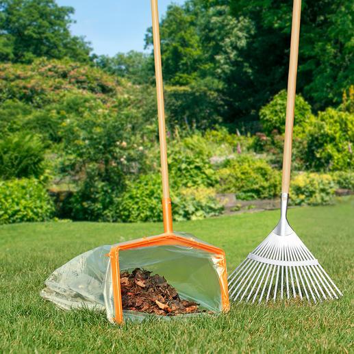 Facilitez-vous la corvée de ramassage des feuilles mortes en vous tenant debout, grâce au manche en bois fourni.