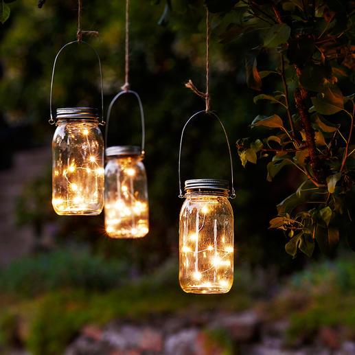 Guirlande lumineuse à LED dans un bocal, lot de 3 pièces Telles des lucioles, des ampoules minuscules enfermées dans un bocal.