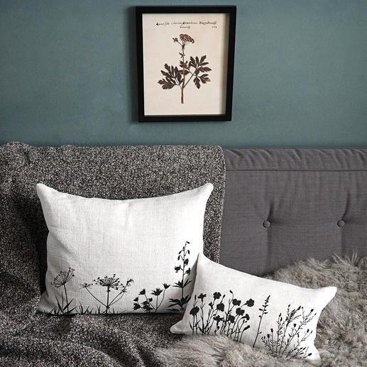 Les imprimés aux motifs botaniques sont originaires d'une manufacture de Hanovre, qui réalise ses modèles de façon strictement artisanale.
