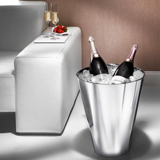 Seau à champagne Le seau à champagne au format magnum, en acier inox double paroi.