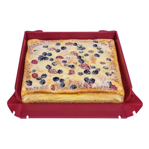 La plaque pâtissière (disponible en commande séparée) convient parfaitement pour les gâteaux cuits sur tôle.