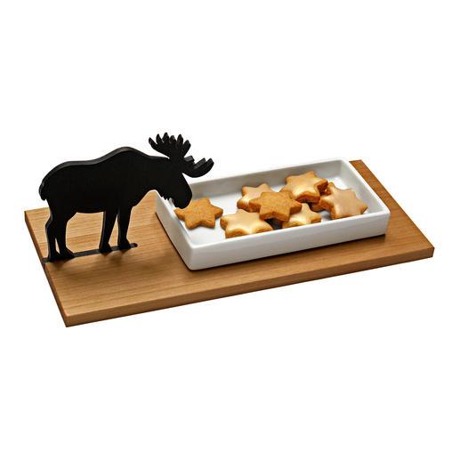 Coupelle à biscuits élan ou Coupelle à cresson lapin Bien loin du kitsch habituel de Noël : succombez au charme de ce magnifique plateau à biscuits.