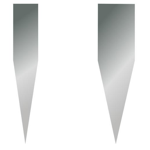 Angle d'affûtage particulièrement tranchant de 16° (contre 22à 25° habituellement) pour moins de résistance lors de la coupe.