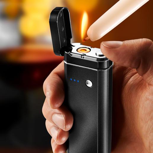 Multi-Tool 5-en-1 Powerbank, lampe de poche, lampe SOS clignotante, outil de vérification d'hygiène et de faux billets, briquet électronique sans flamme.