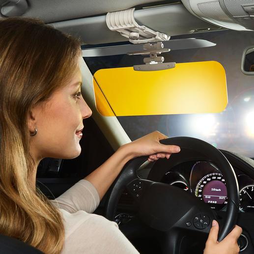 Protection anti-éblouissement 2-en-1 Vision HD sans éblouissement au volant. Par tous les temps, en toute saison, par toute luminosité.