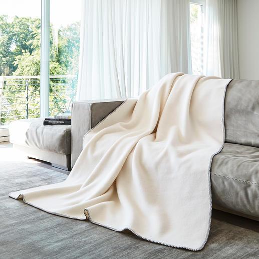 Couverture en laine fine naturelle