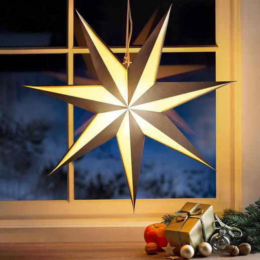 Etoile lumineuse pliante Un classique de Noël au design original .