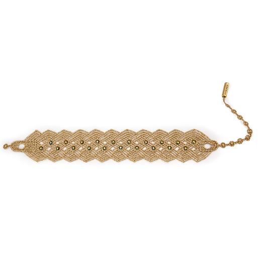 Bracelet brodé Hämmerle & Vogel Bijoux d'été ultra légers version luxe.