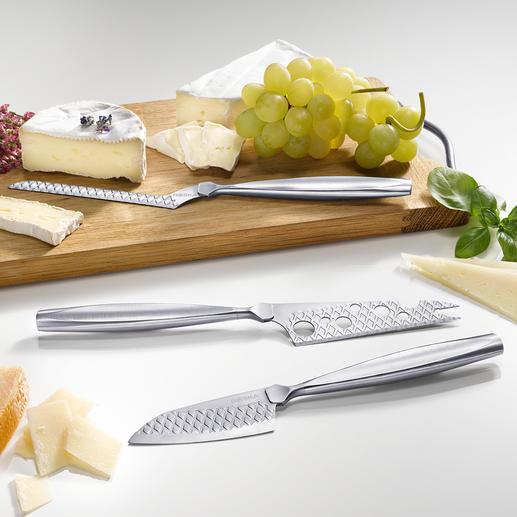 Couteaux à fromage Boska Monaco+, lot de 3 pièces - 3 formes parfaites, pour fromages à pâte dure, pâte molle et fromage à trancher.