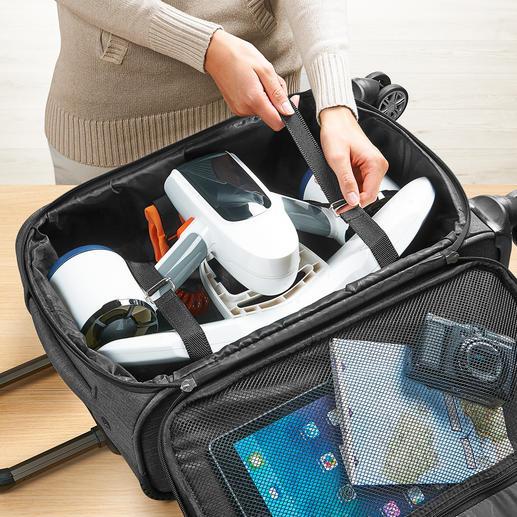 Se range dans un bagage à main et peut être emporté en cabine.