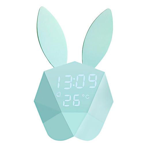 Cutty Clock Un lapin intelligent : réveil, thermomètre et veilleuse tout-en-un.