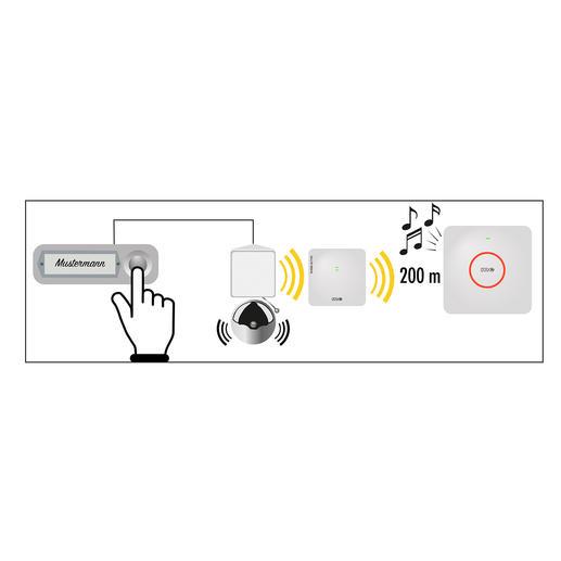 Etend la portée de votre sonnette jusqu'à 200 m. Sans prise de courant ni installation.
