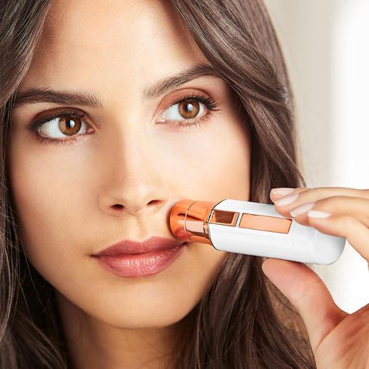 Épilateur pour le visage ou Rasoir à sourcils Roxy Pocket Shaver L'ingénieux Roxy Pocket Shaver : à peine plus grand qu'un tube de rouge à lèvres. Et le rasoir à sourcils au design mascara discret.