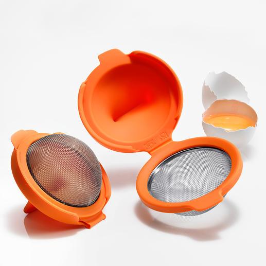 Pocheurs à œufs, lot de 2 pièces Rapide et simple comme jamais : des œufs pochés à la forme et à la consistance parfaite.