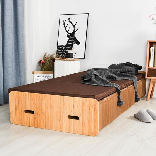 Paper Bed Le Paper Bed repliable avec pliage en accordéon.