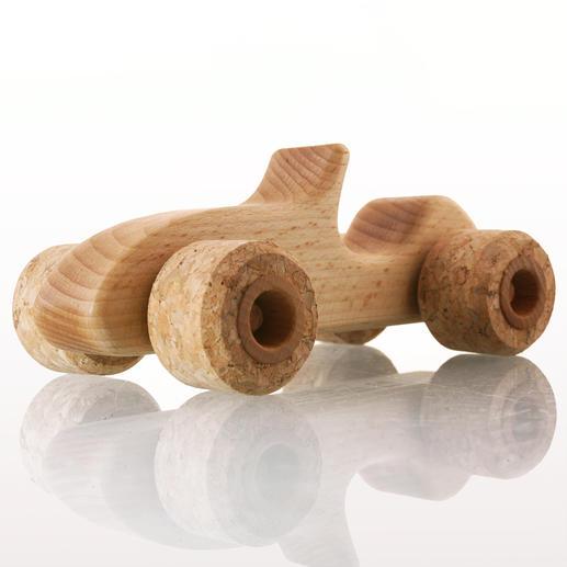 Silent Roller Sporty - Le bolide en bois de hêtre avec de véritables roues en liège.