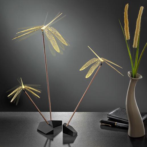 Mobile design « dragonfly » Un simple souffle d'air suffit à lancer la danse des libellules.