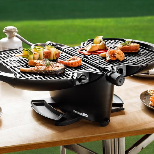 Barbecue à gaz portable NomadiQ Votre barbecue est prêt en une minute. Sans flamme nue. Sans charbon.