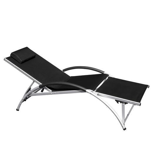 Dossier monté, barre repose-pieds baissée: votre chaise longue est prête!