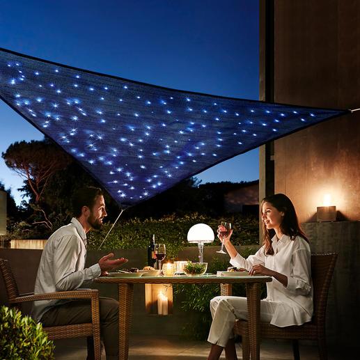 Voile solaire « Voûte céleste » Agréable créateur d'ombre pendant la journée. Fabuleuse voûte céleste la nuit.