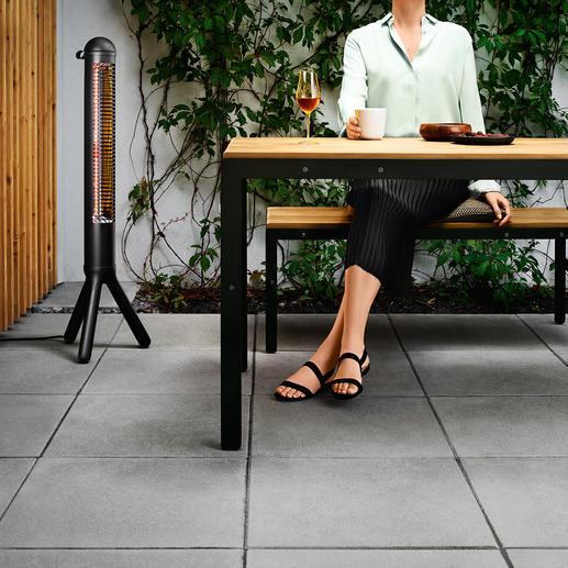 Chauffage de terrasse design HEATUP Parfaitement fonctionnel, au design scandinave. Un produit evasolo/Danemark.