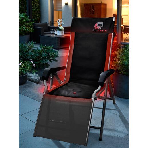 Coussin de chaise chauffant ou Chaise chauffante pliable Aménagez-vous une place au chaud avec ce coussin agréablement chauffé, sur 3 niveaux.
