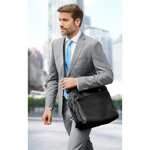 Si besoin, la sacoche peut également être portée sur une épaule, droite ou en diagonale.