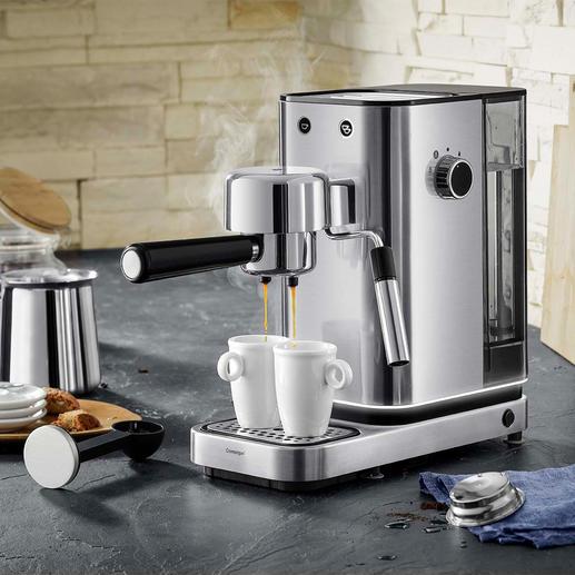 Machine à expresso Lumero WMF Technologie thermoblock professionnelle, utilisation aisée, élégant design en acier inox.