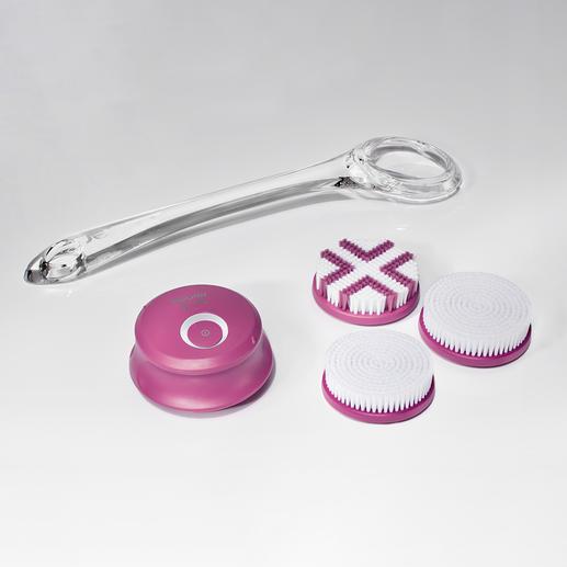 Accessoires fournis: deuxembouts de nettoyage, un embout exfoliation et un manche.