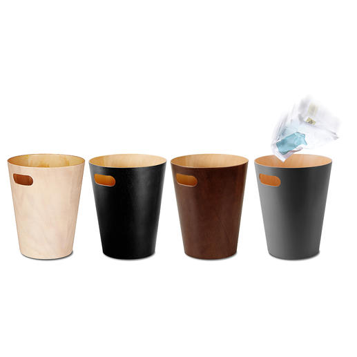 Corbeille à papier « Woodrow » Design sobre et élégant, intemporel. Bien plus esthétique que le plastique ou le métal froid.