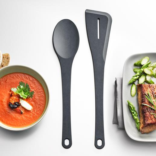 Cuillère Richlite® et Spatule Accessoires culinaires indestructibles en stratifié fibre de bois. Fabriqué aux USA.