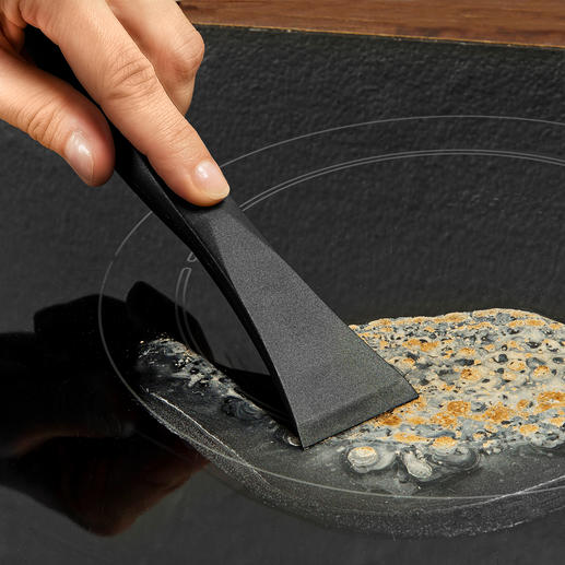 Grattoir plaque de cuisson anti-griffe Efficace et plus doux pour les surfaces. 100 % hygiénique et manipulable sans danger.