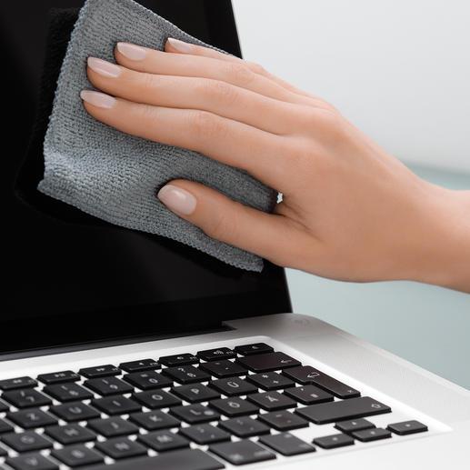 Chiffons antibactériens pour écran tactile, lot de 5 pièces Des écrans tactiles parfaitement propres d'un simple coup de chiffon.
