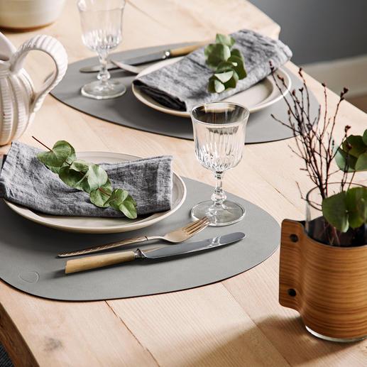 Set de table «tableMatCurve», lot de 2 pieces Luxueux tissu fibre de cuir : imperméable, antitaches et durablement esthétique.