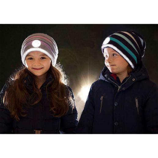 Bonnet réfléchissant Twinkle Kid Le bonnet en tricot tendance avec effet lumineux. Parfaitement visible dans l'obscurité.