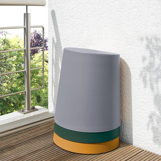 Empilable dans le plus petit espace possible. Des entretoises intérieures empêchent la formation d'un vide et les tabourets se laissent aisément désempiler.