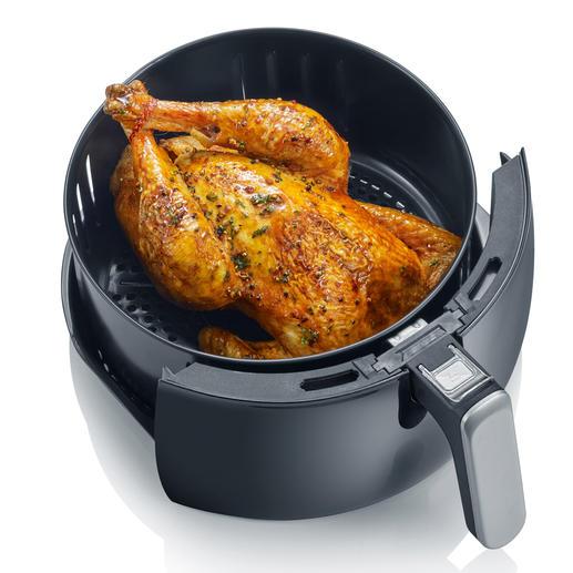 Peut même accueillir un poulet grillé entier.