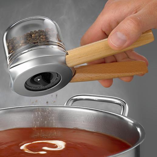 Moulin à épices design Dreamfarm Moulin à poivres au design primé, pour maniement à une ou deux mains.