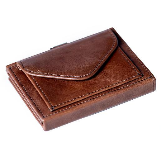 Multi Wallet, avec compartiment à petite monnaie, Marron