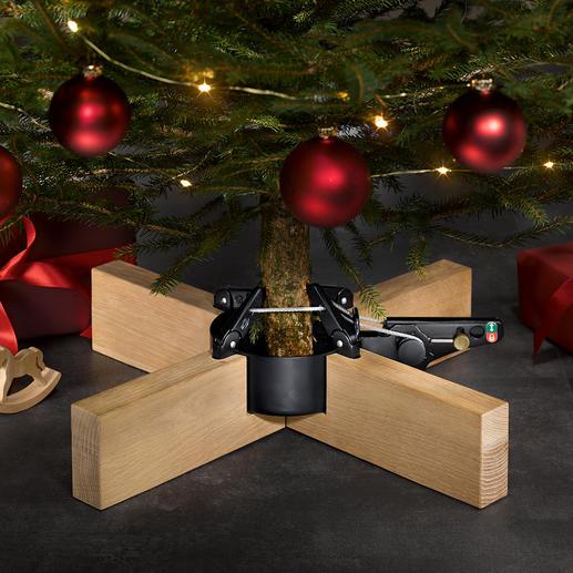 Support pour arbre de Noël « Copenhague » Elégantes lignes épurées, stable, pédale ergonomique : le support de sapin de Noël au design primé.