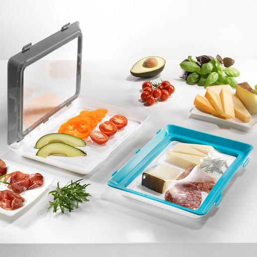 Boîtes fraîcheur Click & Fresh, lot de 2 pièces L'alternative durable aux films alimentaires étirables et aux emballages jetables.