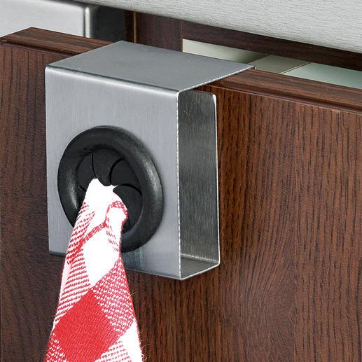 Porte-serviette Push & Pull, lot de 4 pièces Élégant, stable et mobile. Idéal pour la cuisine, la salle de bains, les toilettes des invités.