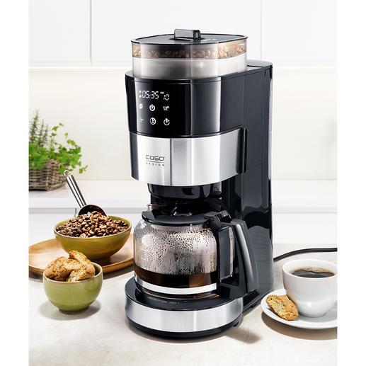 Machine à café filtre Caso avec broyeur Votre meilleur café filtre : fraîchement moulu et tout de suite infusé.