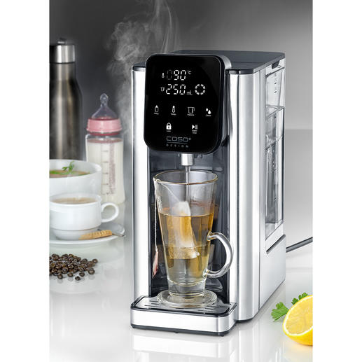 Fontaine d'eau chaude Caso HW 660 Prêt en 5 (!) secondes : pour une tasse ou pour jusqu'à 2,7 litres d'eau chaude.