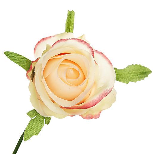 Les têtes de roses sont si réalistes, même de près, qu'on est tenté de les sentir.