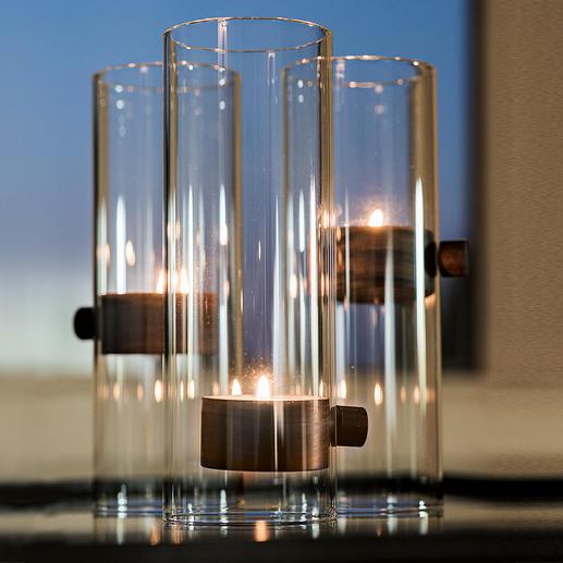 Photophore Lift XL On dirait qu'il n'est pas soumis aux lois de la pesanteur : le photophore et sa lueur de bougie flottante. Par Philippi/Germany.
